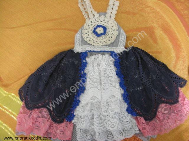 Dantelli Bebek Elbisesi Nasıl Dikilir