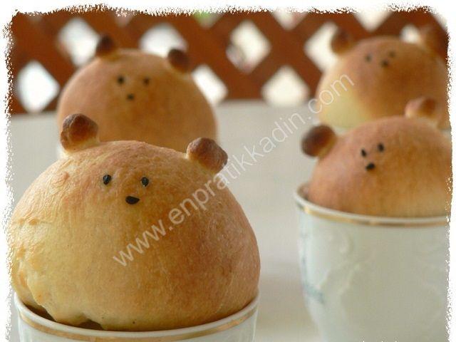 Ayıcık Şeklinde Mini Ekmekler