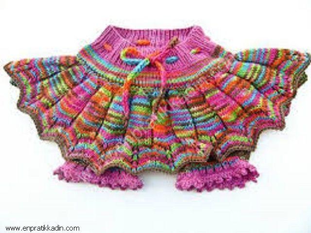 как вязать юбку ребёнку: