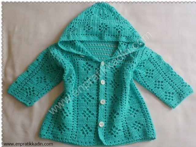 Вязание ажурная кофточка для девочки реглан 75