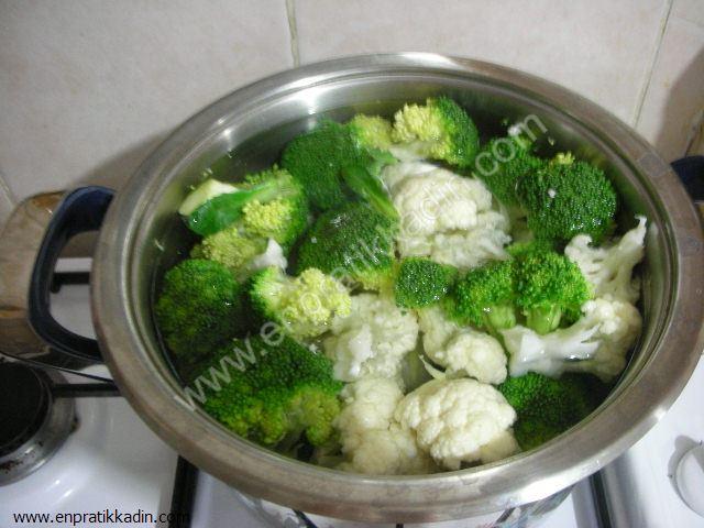 Biralı Karnabahar ve Brokoli Kızartması