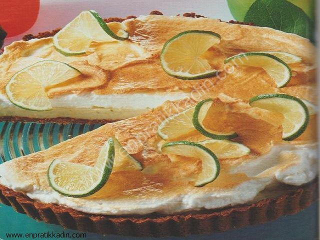 Bisküvili Limonlu Tart