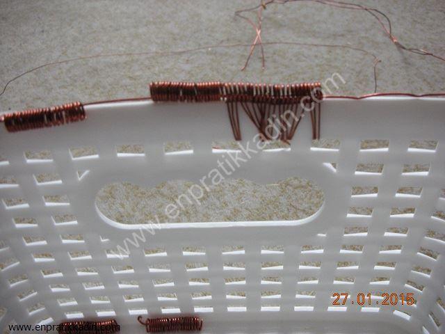 Evde boncuk dokuma tezgahı yapımı