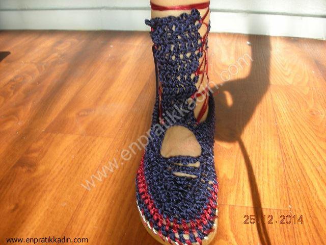 Evde Tığ ile Ayakkabı Yapımı