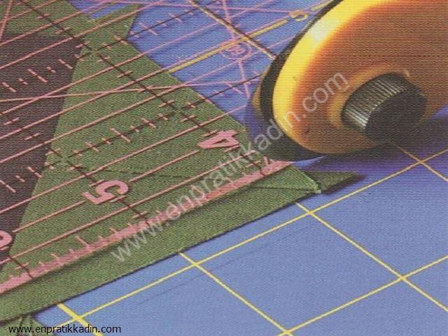 Kumaş Üzerinde Rulet ve Resim Kağıdı Kullanımı
