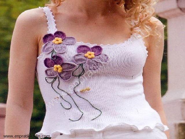 Örgü Çiçek Modelleri ve Yapılışları
