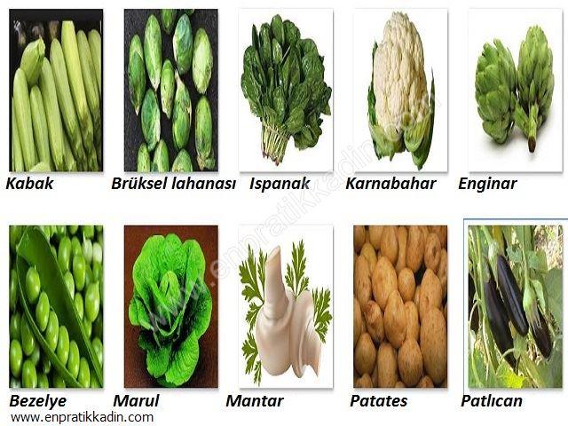 Sebzelerin Özellikleri ve Mevsimleri